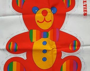 Teddy Bear Rainbow Quilties Stuffed Toy Easy Sew