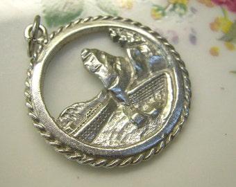 "Vintage Sterling""SIWASH ROCK"" Vancouver Charm...Canada Souvenir Charm For Bracelet"