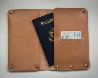 Leather Passport Wallet | Natural