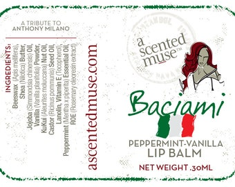 Baciami Peppermint-Vanilla Lip Balm .30ml