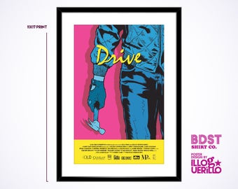 Drive Movie Poster Art // Ryan Gosling Minimalist Film Print // Original Wall Decoration Design