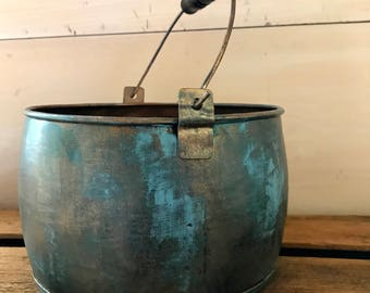 Aged Copper Pot