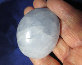 Heavenly Blue Calcite Power Stone - Throat Chakra, communicate with Angels