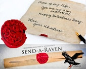 Game of Thrones Valentine - Wax Sealed Letter Raven Mail Handwritten Scroll with Targaryen Sigil -Sent in a clear tube - Send a Raven VDAY