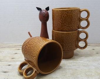 Japanese Stacking Mugs, 1970s Set of 3