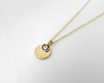 Evil Eye Necklace, Gold Evil Eye Necklace, Evil Eye, All Seeing Eye, BFF, British Seller UK, Gifts for Girls, Bridesmaid Gifts, Turkish Eye
