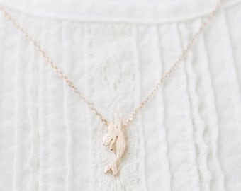 Mermaid Charm Necklace Dainty and Delicate Necklace Bridesmaid Gift Bridesmaid Necklace Birthday Gift