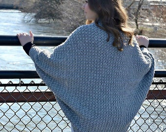 Crochet Pattern: Celesse Cabled Cocoon Sweater | **Permission to sell finished items