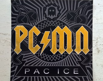 PC/MN - ACDC / Pac-Man - Album Cover Parody Vinyl Sticker