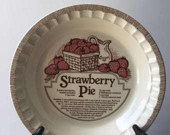 Vintage Strawberry Pie Dish