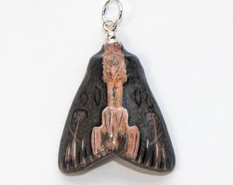 Handmade Bird's Wing Moth Pendant