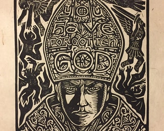 The Young Pope Block Print