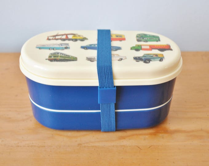 Swedish Bento Box Cars Children's Lunch or Snack Set