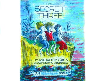 The Secret Three by Mildred Myrick Drawings by Arnold Lobel, 1963, Children's Book, Hardcover, Ocean, Beach, Message in a Bottle