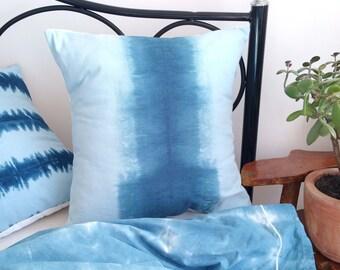 Ombre Pillow Cover, Dip Dye Cushion Cover, Indigo Cushion, Boho