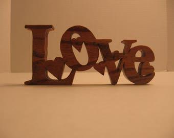 Love w/hearta - Word Art