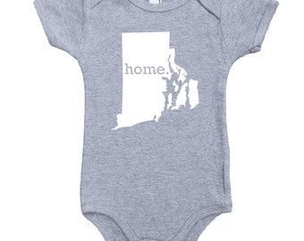Homeland Tees Rhode Island Home Unisex Baby Bodysuit
