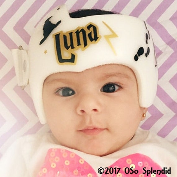 Personalized Cranial Band Decals Thwarting My Flat - Baby helmet decalsa family blog that takes you through the experience of a baby with