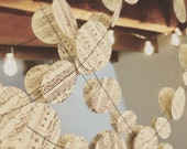 Sheet Music Wedding Garland Baby Shower Bridal Shower Party Garland Ivory and Black 10ft. Length
