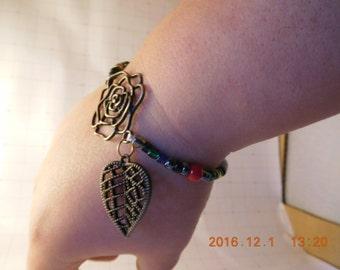 Leaf Bracelets with Charms
