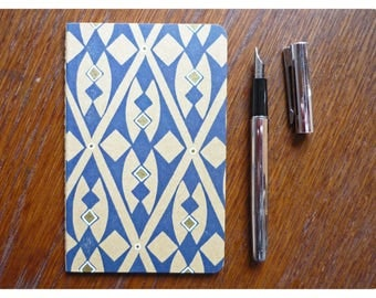 Hand-printed notebook - small format - white pages