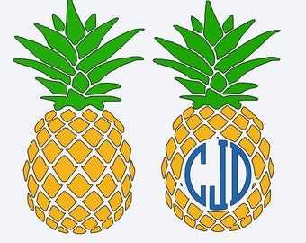 PINEAPPLE MONOGRAM Decal  PINEAPPLE Decal Yeti Decal Car Decal Custom Decal  Lily Pulitzer inspired Pattern Window Decal