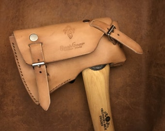 Gransfors Small Forest Axe Custom leather sheath Natural