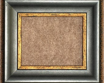 "3-1/8"" Black with Gold Picture Frame"