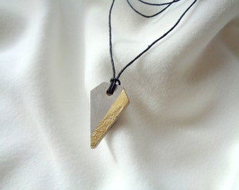 Triangle Concrete Necklace, Industrial  Necklace