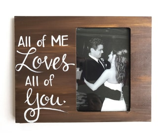 Love Picture Frame. Gift for him. Picture frame for wife, husband or boyfriend or girlfriend. Valentine's day picture frame. Gift for him.