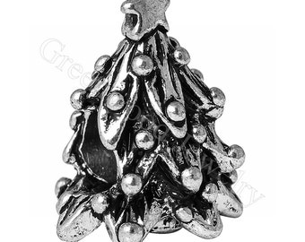 2016 Christmas tree, European Charm Bead For All Large Hole Charm Bracelet And Necklace Chain