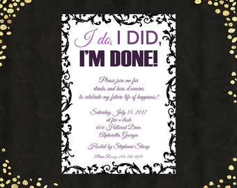 Divorce invitations Etsy