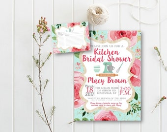 Bridal Shower Invitation, Couples Shower Invitation, Wedding Shower Invitation, Kitchen Shower Invitation, Stock the Kitchen, DIY or Printed