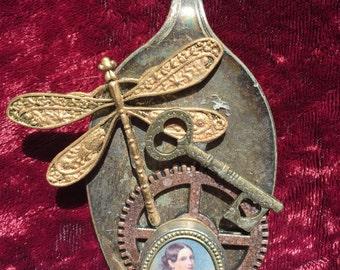 Dragonfly Steampunk Pendant