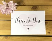 Heart Script Wedding Thank You Note Card Packs Thank You Cards
