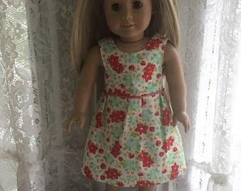 Flower garden dress for 18 inch dolls