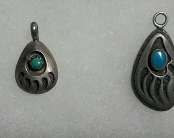 Bear Claw Navajo Pendants 1 of 2 is signed