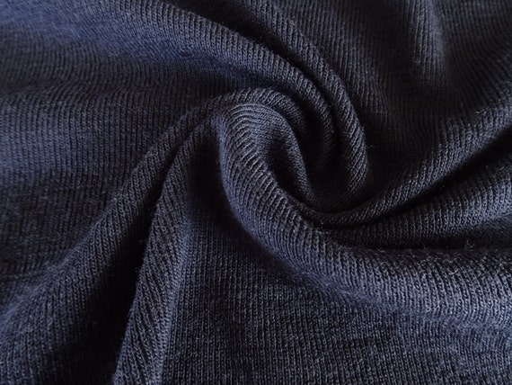 By The Yard 100 Merino Wool Fabric Rib Knit By
