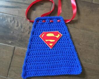 Crochet superhero cape, newborn superman, superhero cape, superhero photoprop
