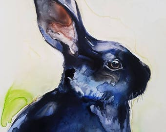 Rabbit Painting, Rabbits, Bunny Painting, Rabbit Art, Animal Painting