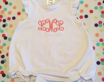 Monogrammed White Baby Girl Bubble - Great Baby Shower Gift!