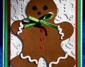 Handmade Gingerbread Man Christmas Card