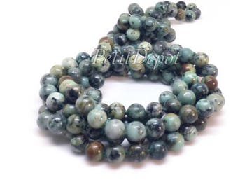 Turquoise Necklace Long African Turquoise Bead Necklace Natural Stone Beads Knotted 60 inches long necklace layer necklace