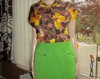 Claude Montana green vintage skirt.Claude Montana Paris(made in Italy)