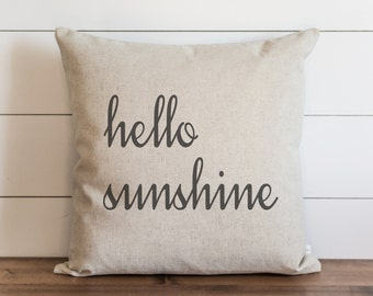 Hello Sunshine 20 x 20 Pillow Cover // Everyday // Throw Pillow // Gift for Her // Accent Pillow