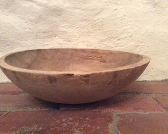 Primitive Oval Wooden Bowl