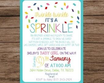 Twinkle Twinkle It's a Sprinkle, Baby Sprinkle Digital Invitation