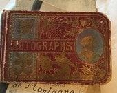 Victorian 1891 Autograph Book Signatures Scuffed Cover Charming Ephemera Autographs Inside Ephemera April 28, 1891 Friendship Book To Ida