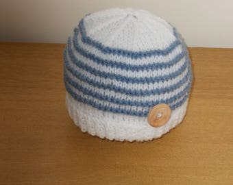 Hand knitted baby beanie hat 3 sizes to choose from