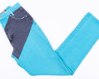90's Rough Rider Two-Toned High Waisted Jeans